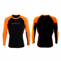Sharkskin Rapid Dry Long Sleeve Rash Top Black/Orange Medium