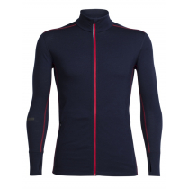 Icebreaker Mens Merino Incline Zip Long Sleeve Shirt Midnight Navy/Rocket