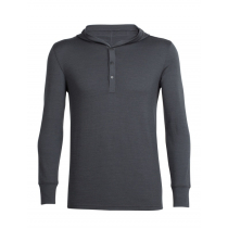Icebreaker Mens Merino Trailhead Pullover Hoodie Monsoon