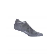 Icebreaker Mens Merino Run+ Ultralight Micro Socks Twister Heather/White XL