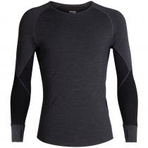 Icebreaker Merino BodyfitZone 260 Zone Mens Long Sleeve Shirt Heather/Black