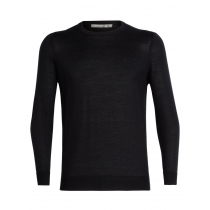 Icebreaker Merino Hybrid Quailburn Crewe Mens Sweater Black