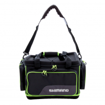Shimano Waterproof Hard Top Tackle Bag Black/Green