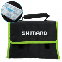 Shimano Lure Travel Wrap with Tackle Box Black/Green