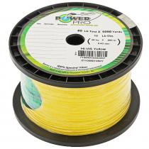 PowerPro High-Visibility Yellow Braid 80lb 1090yd