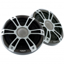 Fusion Signature 2-Way Coaxial Sports Chrome Marine Speakers with LED 7.7in 280W
