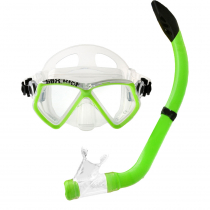 Pro-Dive Kids Silicone Dive Mask and Snorkel Set Green