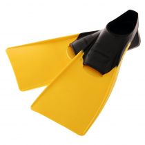 Pro-Dive Rubber Swim Fins Black/Yellow
