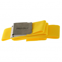 Pro-Dive Webbed Dive Weight Belt with Stainless Buckle 1.6m Fluoro Yellow