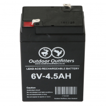 Outdoor Outfitters Rechargeable Lead Acid Battery 6V 4.5Ah