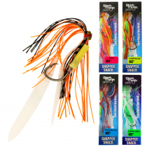 Black Magic Snapper Snack Skirted Flasher Rig 5/0 to 7/0