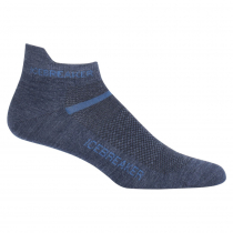 Icebreaker Mens Merino Multisport Ultralight Micro Socks Fathom Heather/Sea Blue