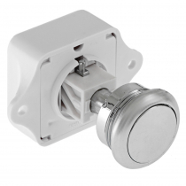 Push Button Cabinet Latch - Chrome