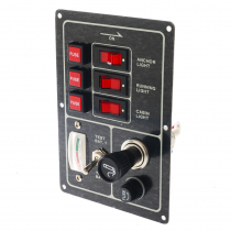 BLA 3 Switch Panel with Meter And Lighter Socket