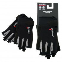 Musto Essential Sailing Short Finger Gloves Black