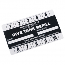 Dive Tank Cylinder Air Fill Concession Card - 10 Fills