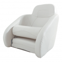 VETUS Queen Helm Seat with Flip-Up Squab White