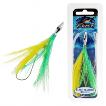 Williamson Flash Feather Tuna Lure Yellow Green 4''