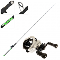 Shimano Tranx 200A-HG and #KAOS Baitcaster Combo 7ft 11in 40-70g 2pc Lime Green