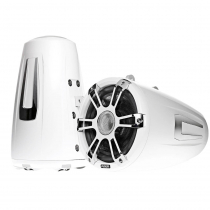 Fusion Coaxial Wake Tower Sports Speakers with LED 8.8in 330W White