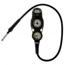 Mares Mission 3 Dive Compass/Depth/Pressure Gauge