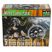 Ridgeline Mens 5 Piece Fleece Pack Buffalo Camo