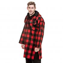 Swanndri Mens Original Pure Wool Bush Shirt Red Black