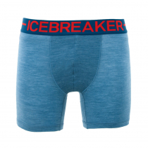 Icebreaker Mens Merino Hybrid Anatomica Zone Boxers Granite Blue Heather/Chili Red L