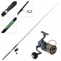 Shimano Twinpower C5000XD XG and #KAOS Topwater Spin Combo 7ft 11in 40-70g 2pc Lime Green