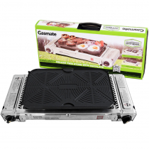 Gasmate Travelmate II Deluxe Twin Stove with Hotplate