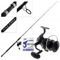 Daiwa Saltist Nero 5000 and Saltist Bluewater SJ 792H Stickbait Combo with Braid 7ft 9in 30-100g 2pc