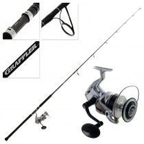 Shimano Saragosa SRG 20000 SW and Grappler Type C S82XH Topwater Spin Combo 8ft 2in PE10 2pc