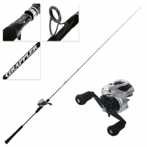 Shimano Tranx 300A and Grappler Type J B631 Light Jig Combo 6ft 3in PE1.5 2pc