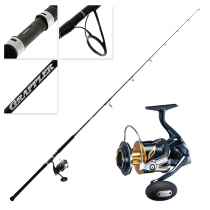 Shimano Stella SW 14000 XG and Grappler Type C S82H Topwater Spin Combo 8'2'' PE8 2pc