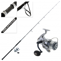 Shimano Saragosa 8000 SWHG and Grappler Type C S80M Topwater Spin Combo 8ft PE5 2pc