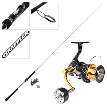 Shimano Stella 4000 SWB XG and Grappler Type J S631 Light Jig Spin Combo 6ft 3in PE1.5 2pc