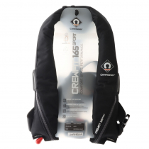 Crewsaver Crewfit Sport 165N Automatic Inflatable Life Jacket with Harness Black/Grey