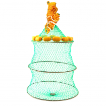 Jarvis Walker Collapsible Live Bait Cage with Yellow Buoys