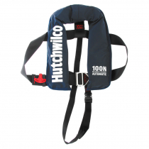 Hutchwilco Challenger 100N Automatic Inflatable Kids Life Jacket Navy 18-40kg