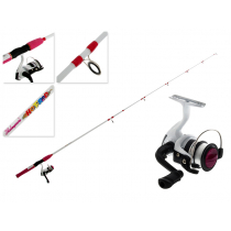 Shakespeare Kids Hot Rod Spinning Combo with Line Pink 6ft 2-4kg 2pc