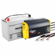 Mastervolt AGM Battery and ProMariner ProSport Charger for Minn Kota 90Ah 36V