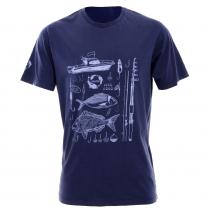 LegaSea X Barkers Collage Mens T-Shirt Mid Blue