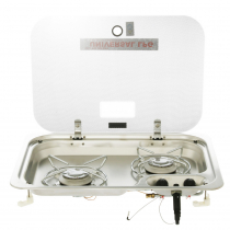 Dometic 2 Burner HOB Gas Stove with Glass Lid