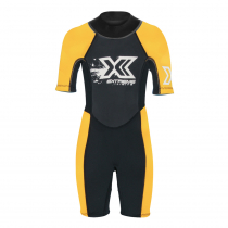 Extreme Limits Reef Kids Springsuit Black/Orange Size 8