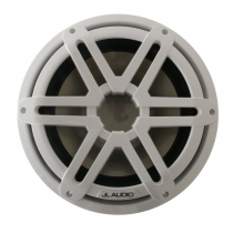 JL Audio M3-10IB-S-Gw-i-4 10in Marine Subwoofer Driver with RGB LED Lighting Gloss White Sport Grille