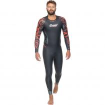 Cressi Kuwae Mens Swimsuit Black/Red 2-3-4mm