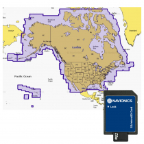 Navionics Gold SD/MSD Chart Card 1XG US and 2XG Canada for Raymarine