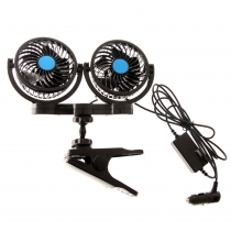 Dual Fans with Clamp Mount 100mm 12v