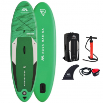 Aqua Marina Breeze All Around Inflatable Stand Up Paddle Board Package 9ft 10in