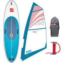 Red Paddle Co WindSURF Inflatable Stand Up Paddle Board with Ride Rig and Titan II Pump 10ft 7in